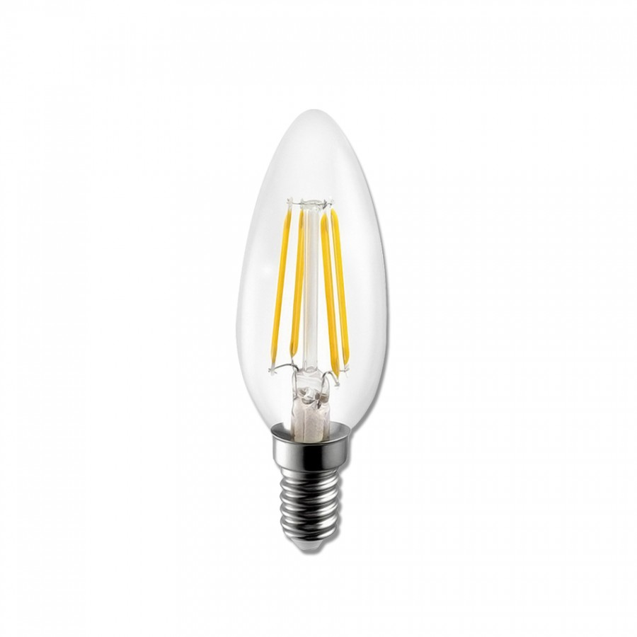 Lâmpada LED E14 4W Filamento 3000K | ECO