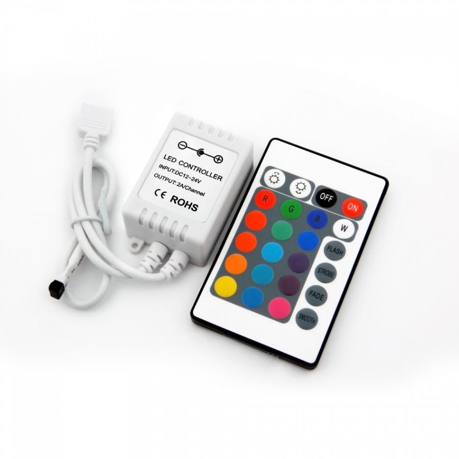 Controlador RGB 2A/canal + Comando IR