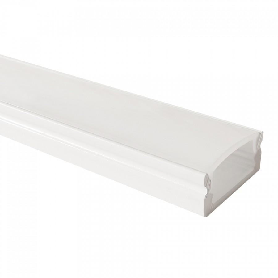 Perfil em U Baixo Branco | Difusor Opalino